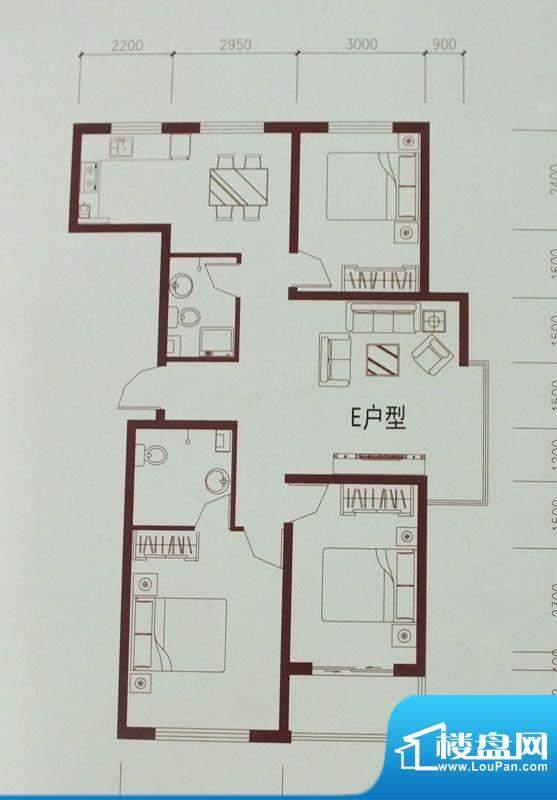 御品星城D户型两室两面积:0.00m平米